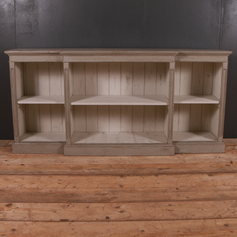 Painted Pine Breakfront Bookcase