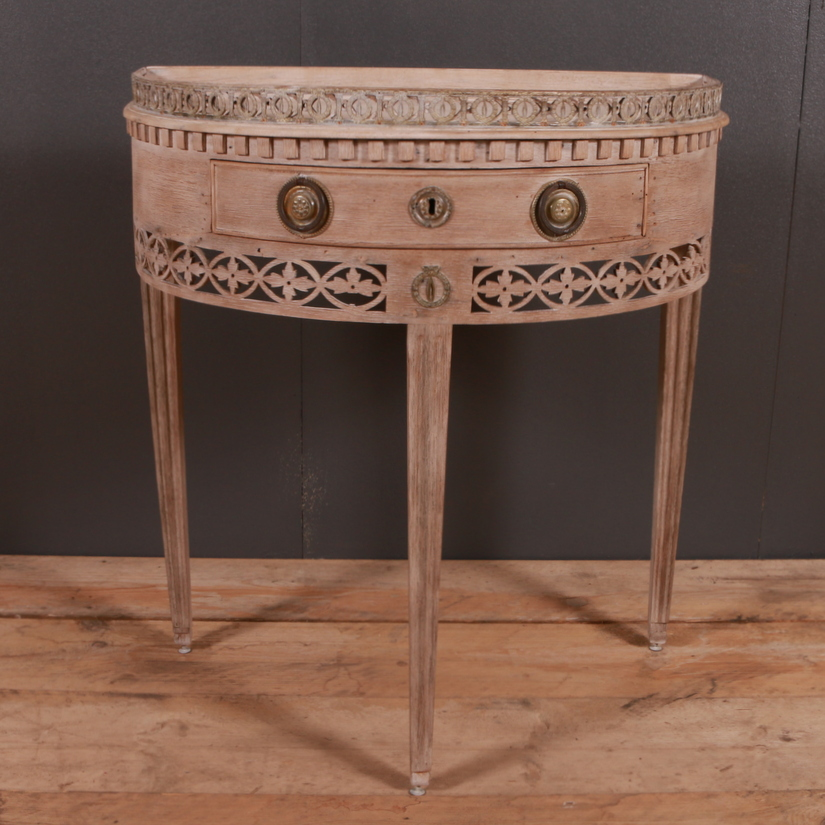 Dutch Demi Lune Console Table