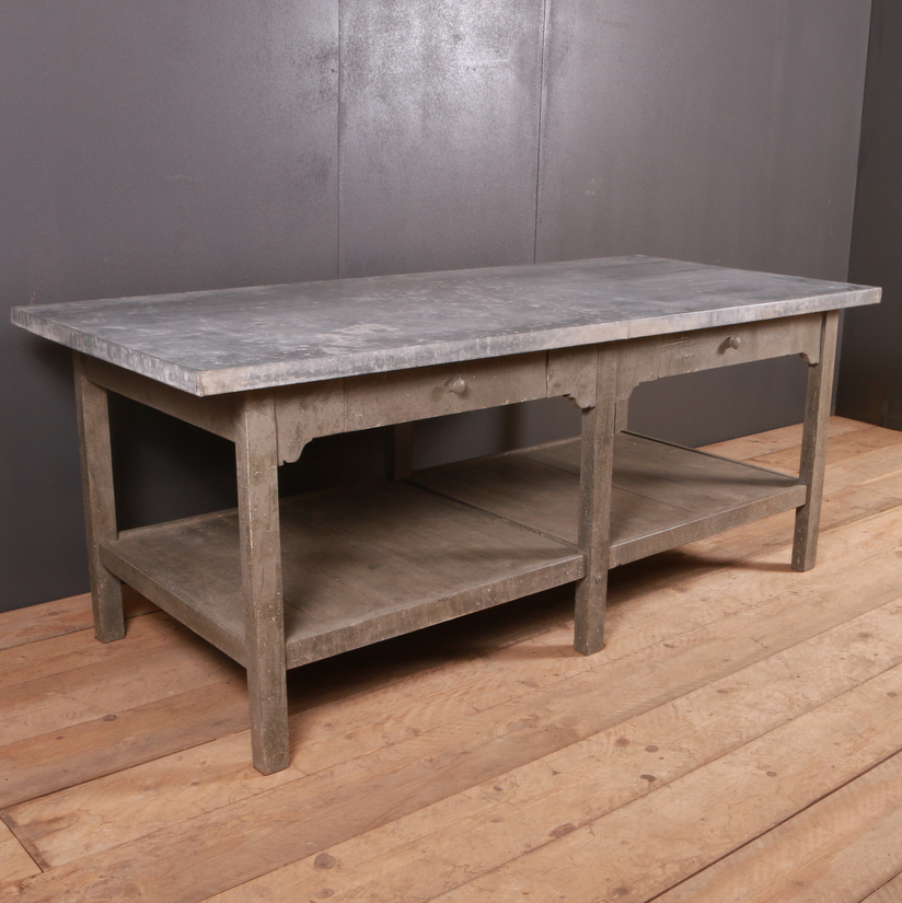 Zinc Top Florist Table
