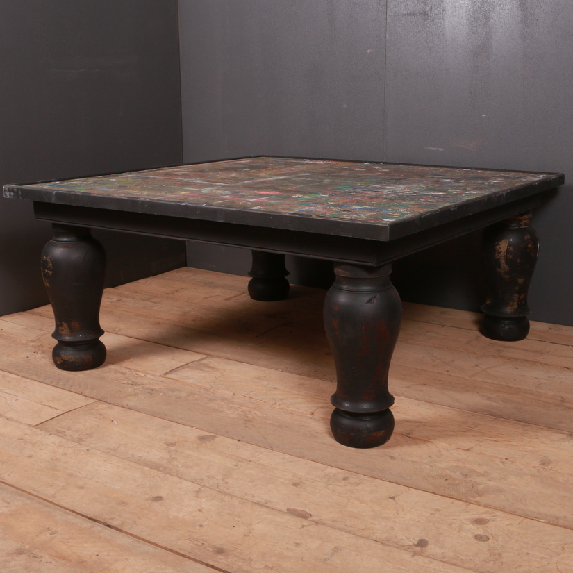 Large Painted Low Table