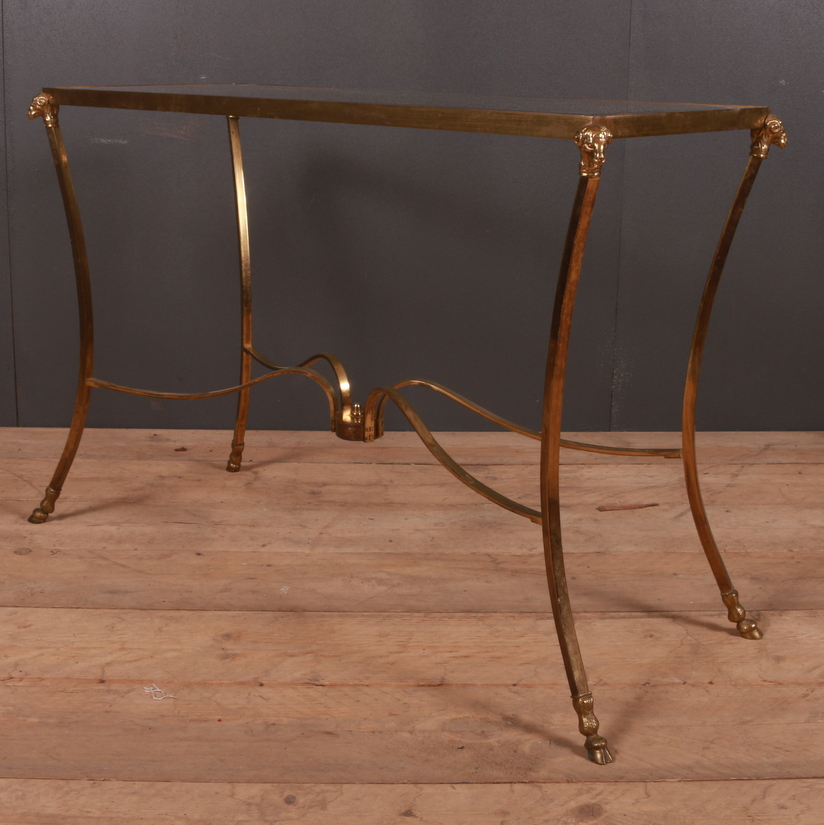 1920s Brass and Glass Side Table