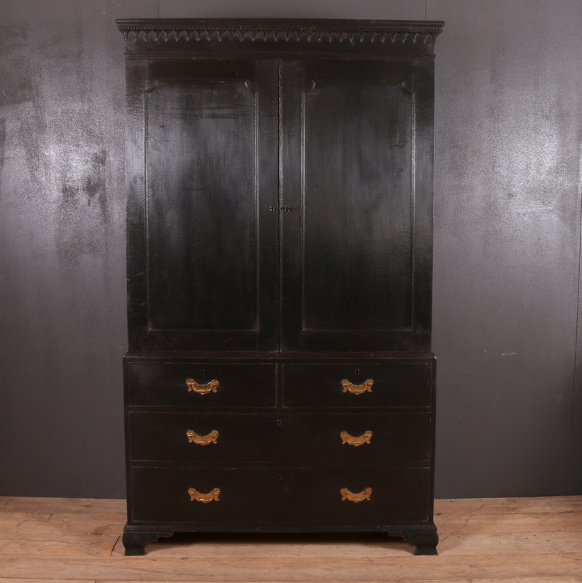 George III Painted Wardrobe