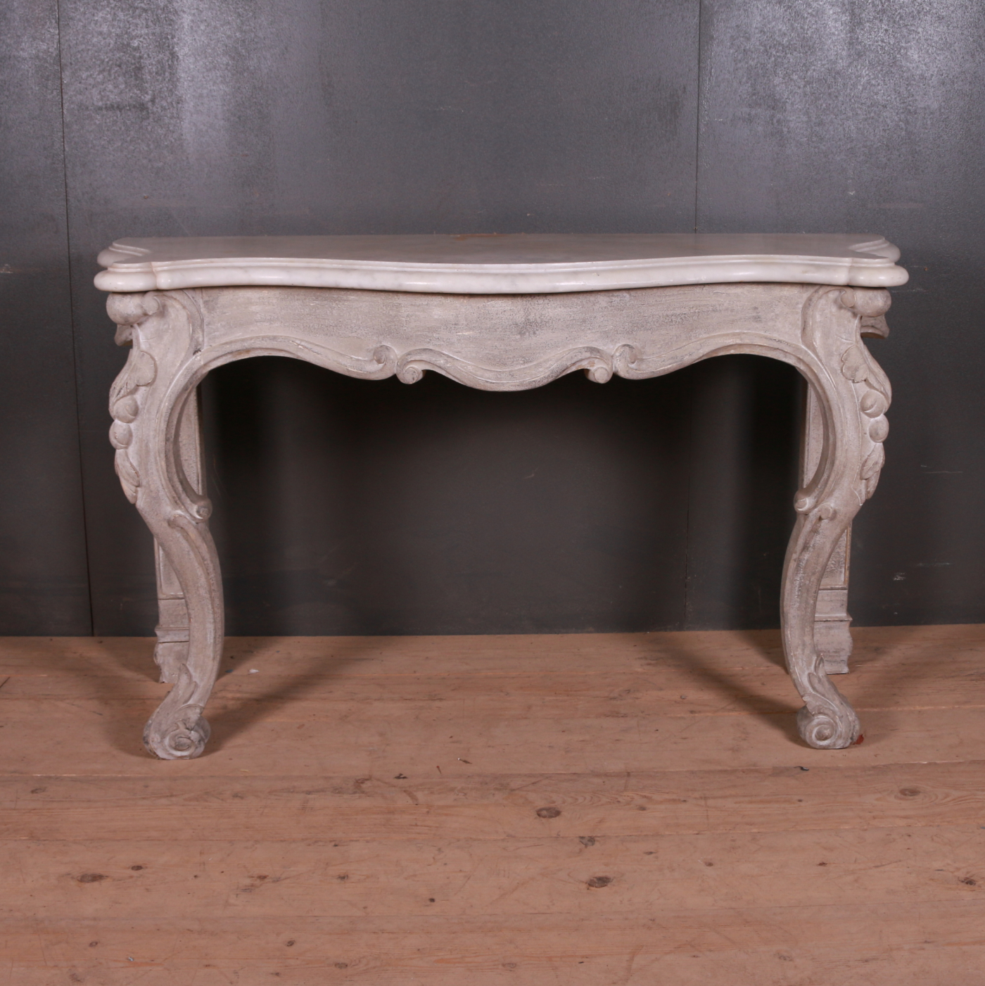 Irish Serpentine Front Console Table