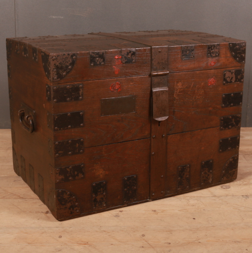 Iron Bound Silver Chest