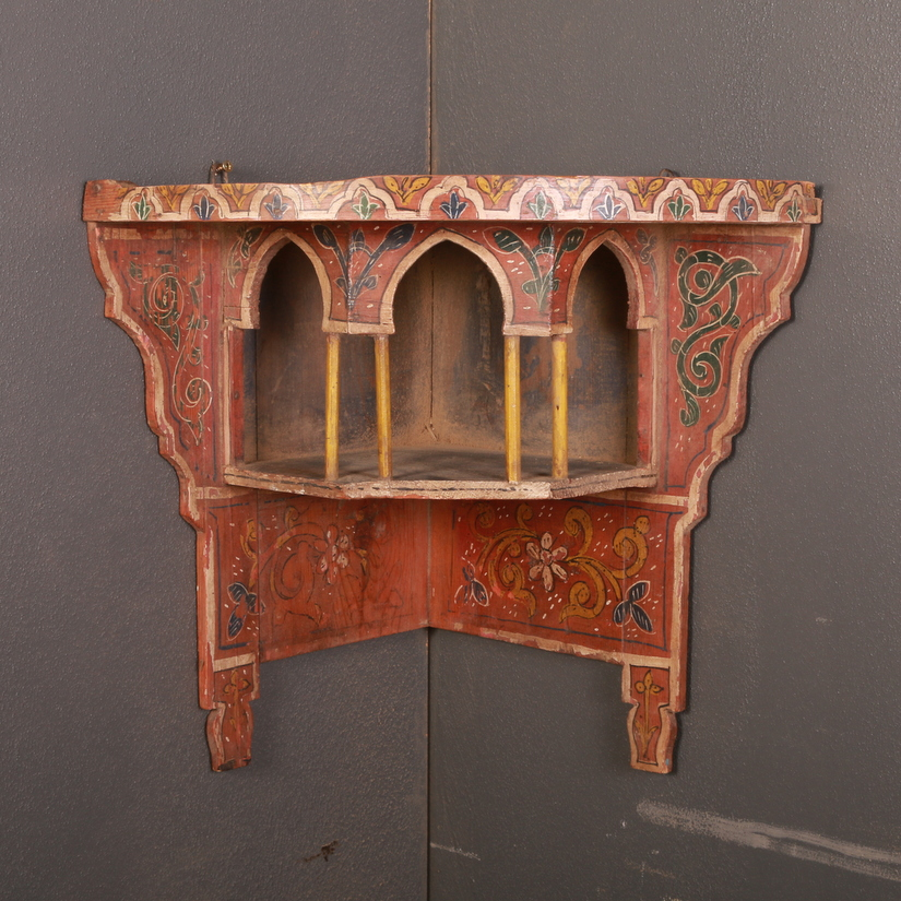 Kashmir Hanging Corner Shelf