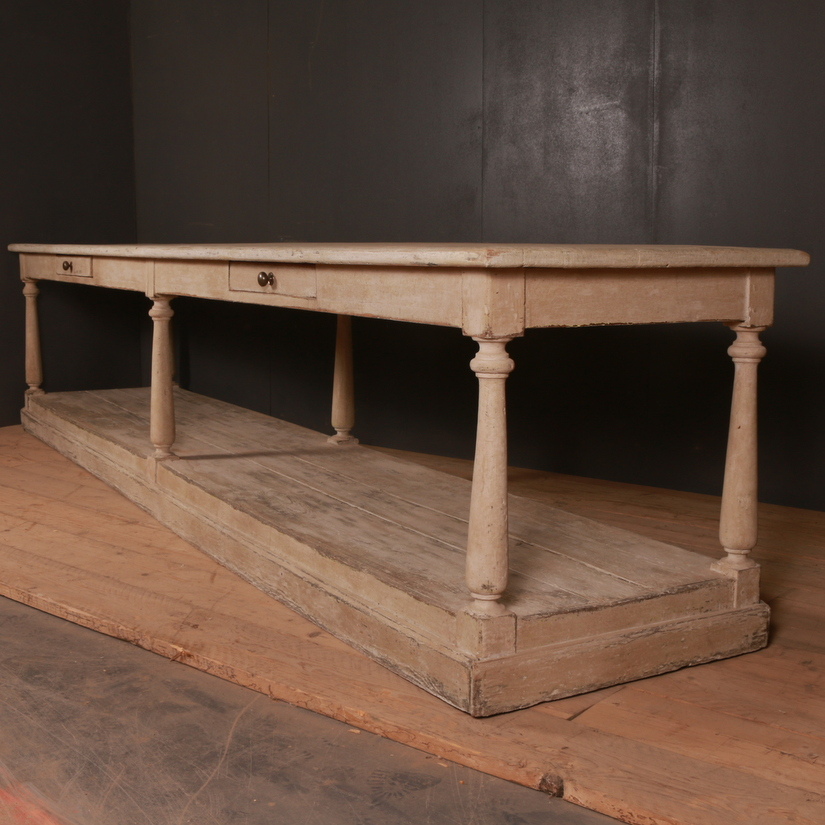 Monumental French Drapers Table