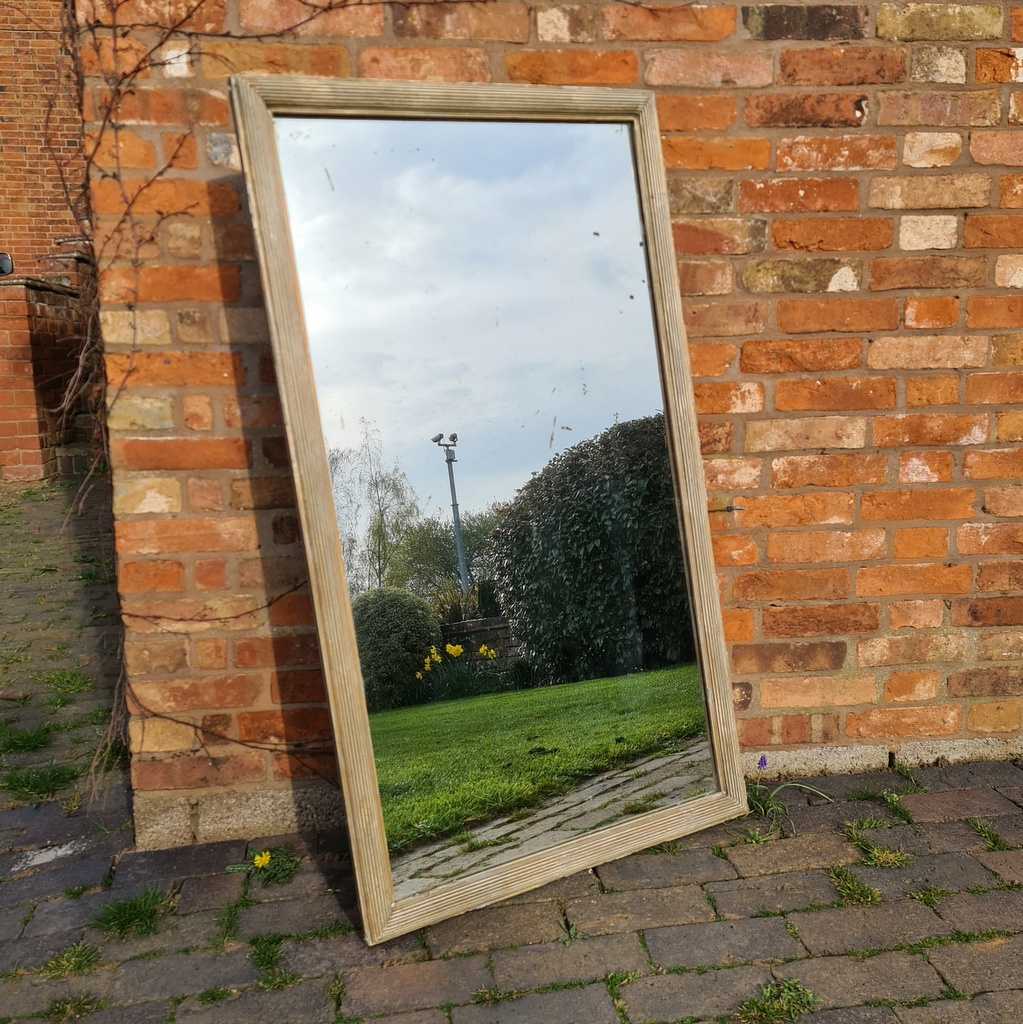 Original Painted French Bistro Mirror
