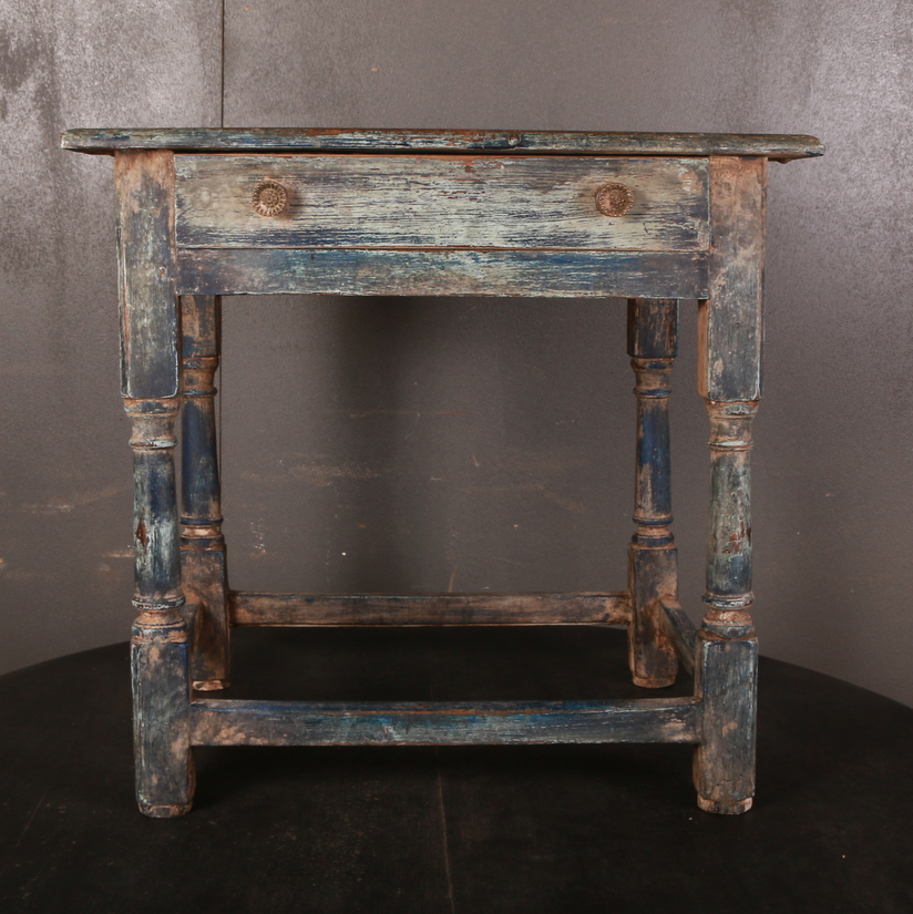 Painted Oak Lamp Table