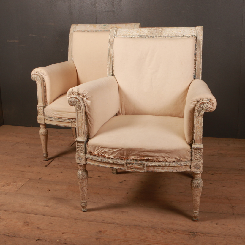 Pair of French Fauteuils