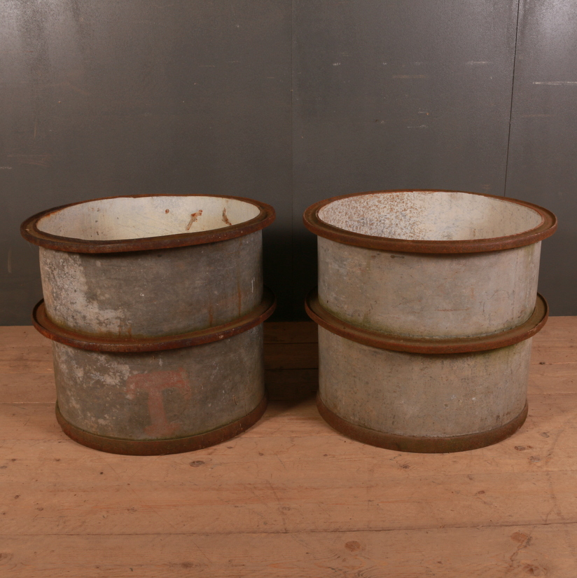 Pair of French Metal Planters