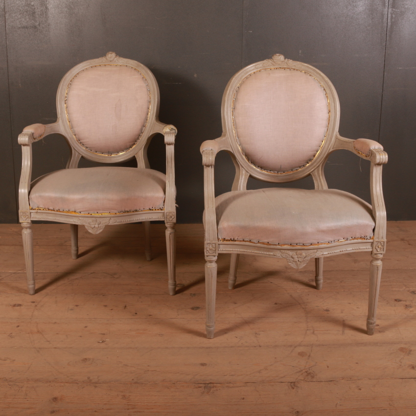 Pair of French Salon Chairs