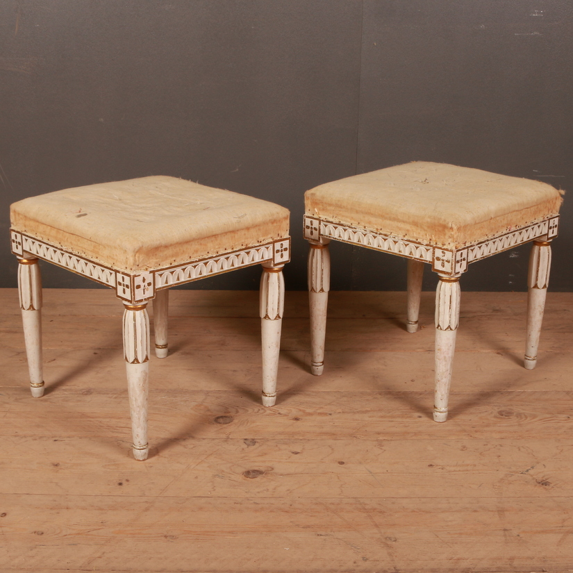 Pair of Gustavian Style Stools