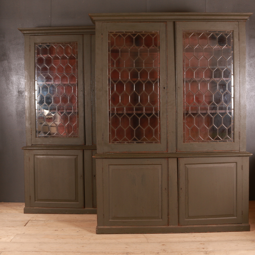 Pair of Painted Bookcases