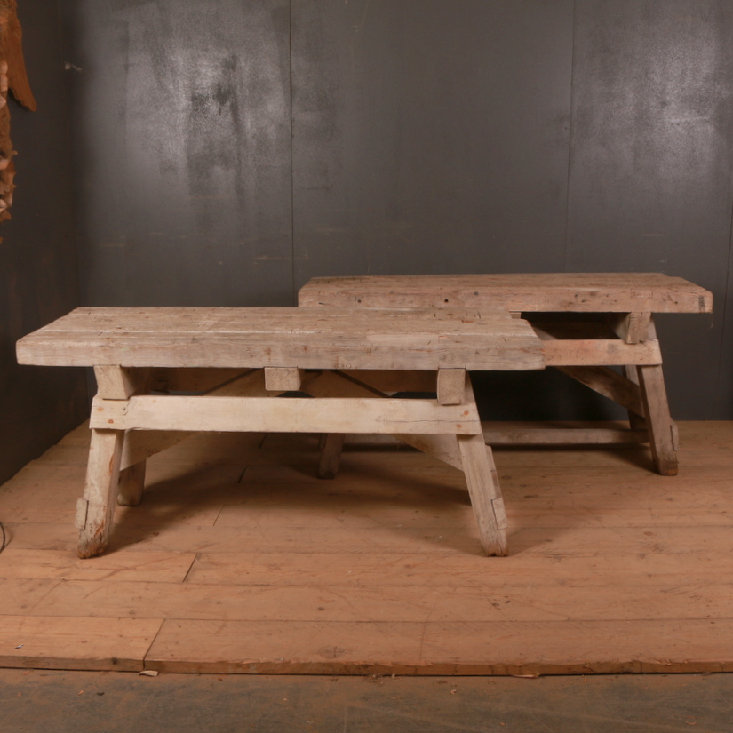 Pair of Primitive Console Tables
