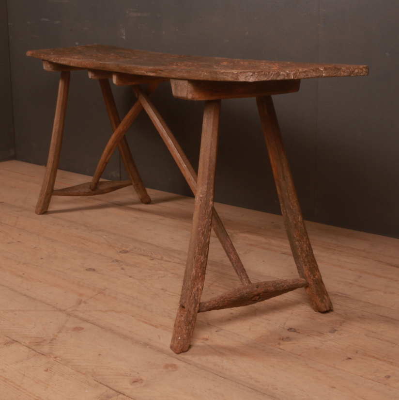 Primitive French Trestle Table