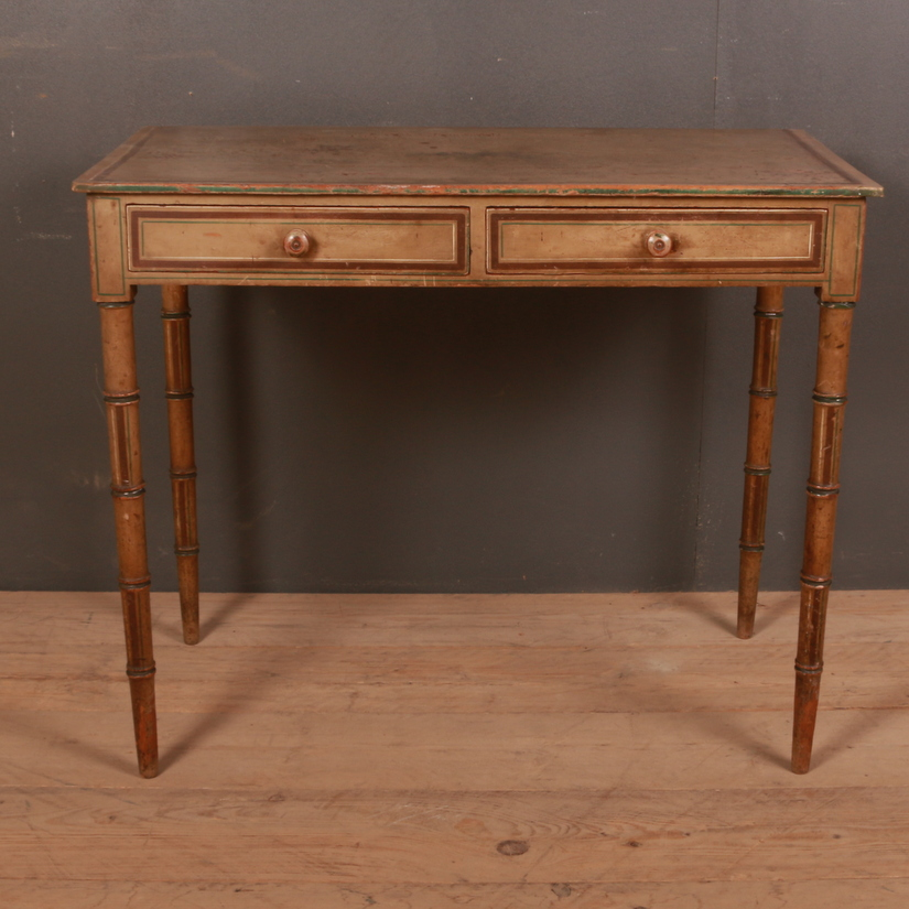 Regency Faux Bamboo Writing Table