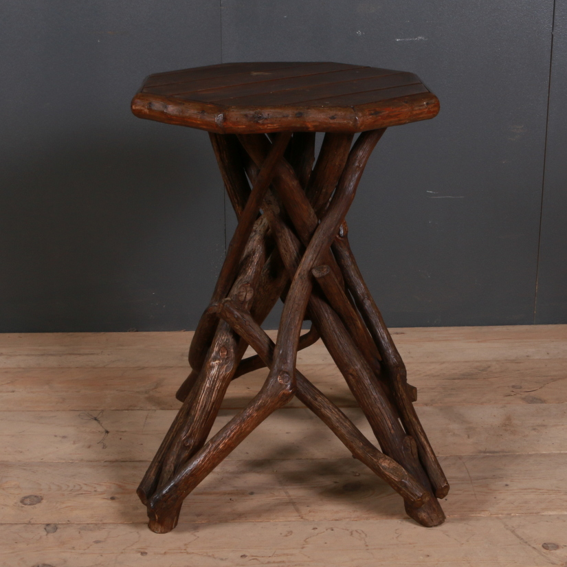 Rustic French Lamp Table