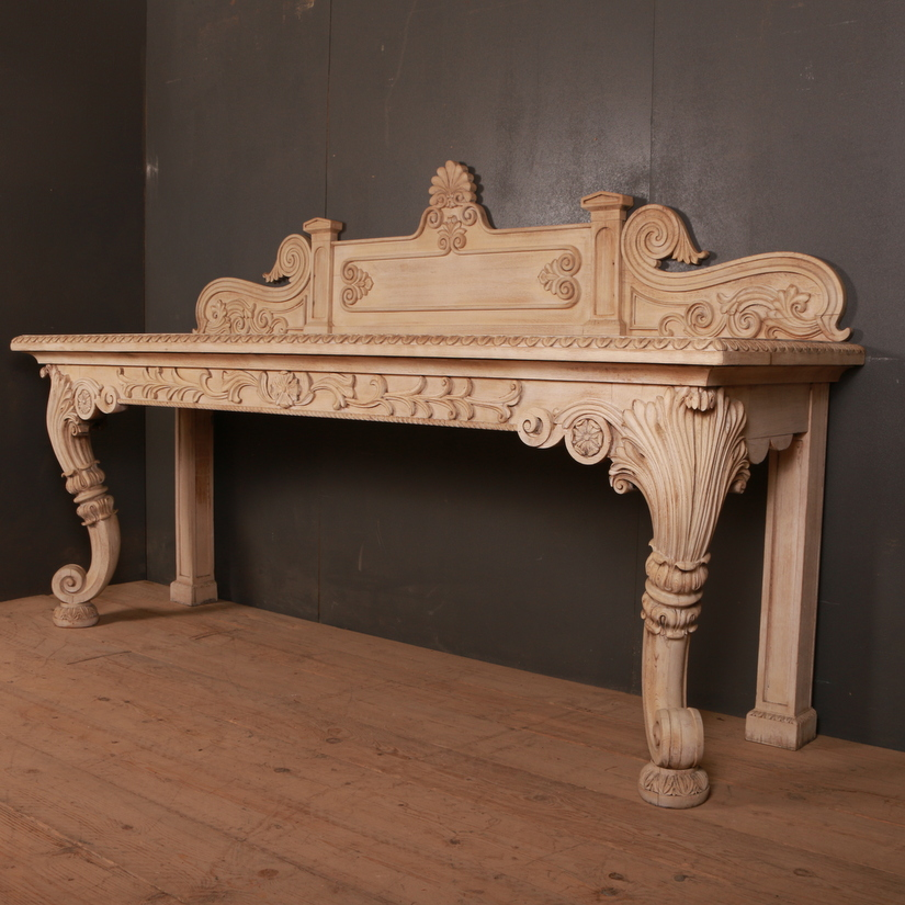 Scottish Bleached Oak Console Table