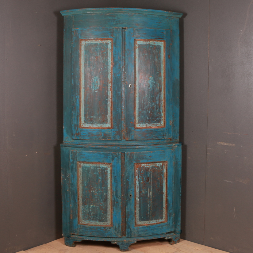 Swedish Bowed Corner Cupboard