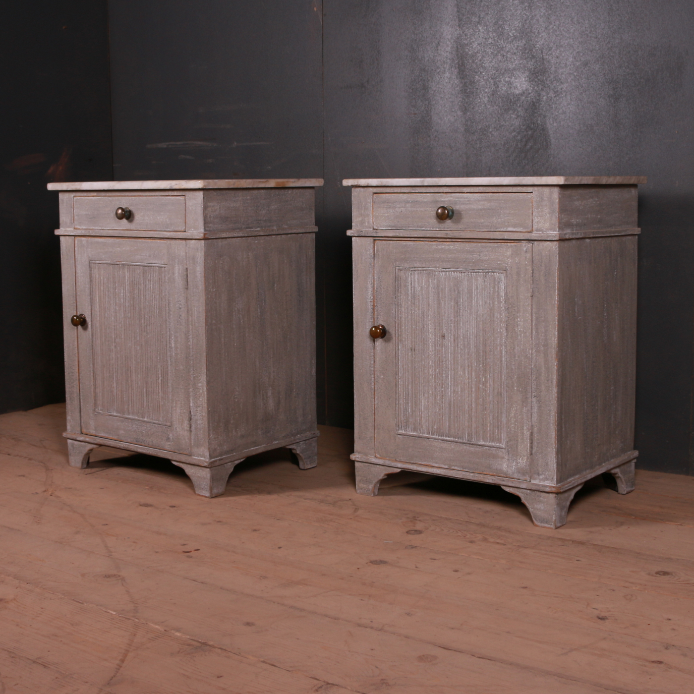 Pair of Swedish Bedside Cupboards