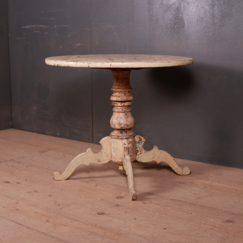 Swedish Original Painted Tripod Table