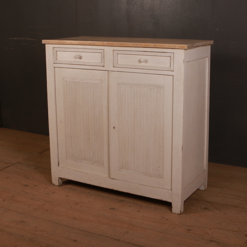 Swedish Painted Side Cabinet