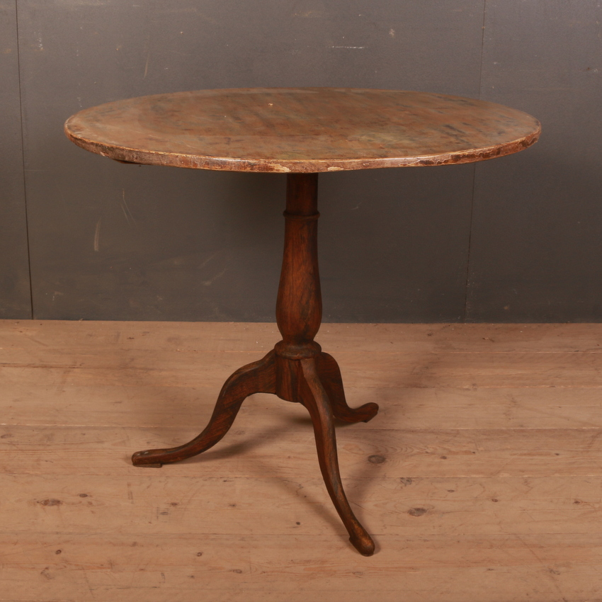 Swedish Tilt Top Lamp Table