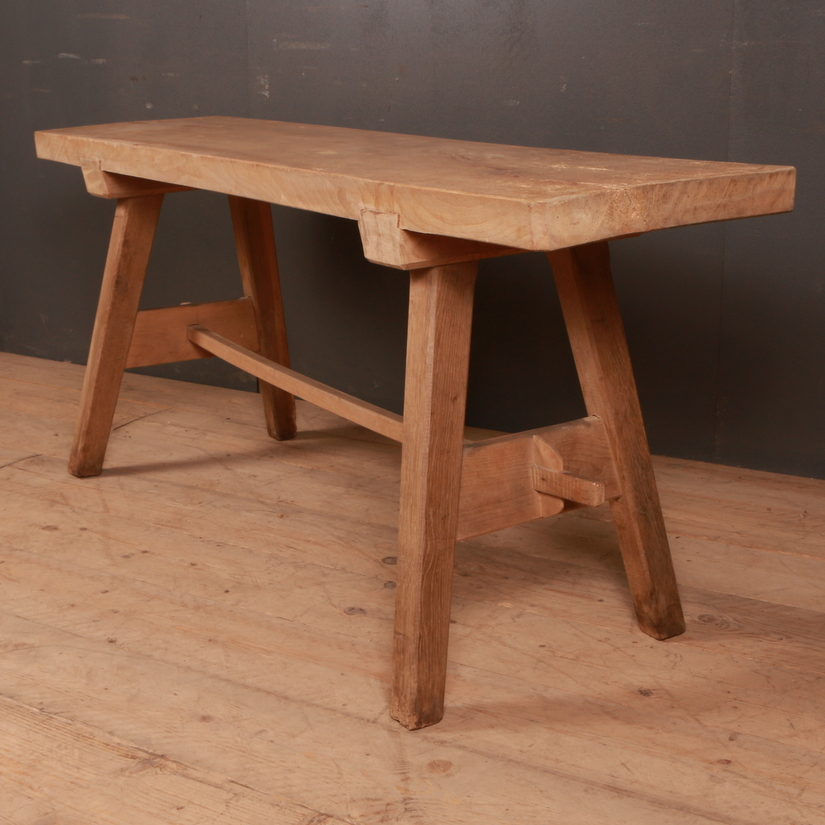 Sycamore and Oak Trestle Table