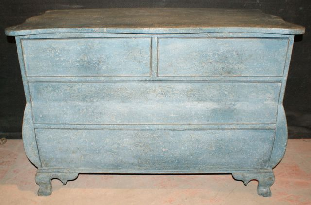 Painted Dutch Bombe Commode