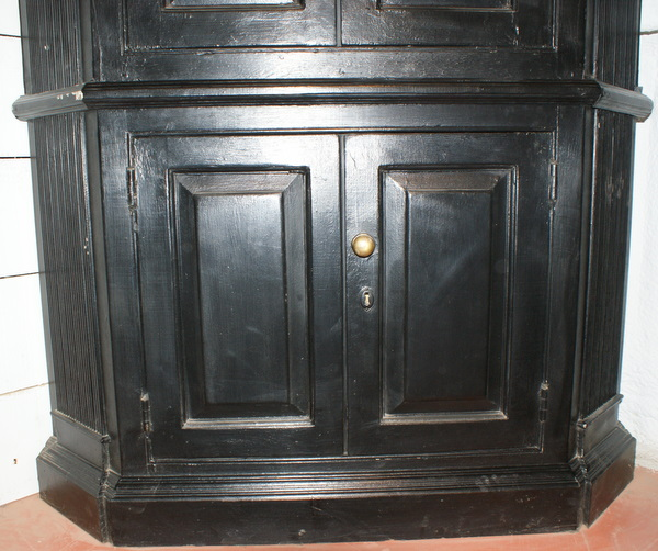 Custom Built 18th C Style Architectural Corner Cupboard.