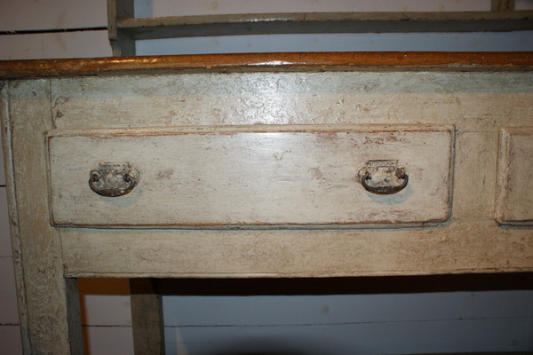 19th C Original Painted Pot Board Dresser.