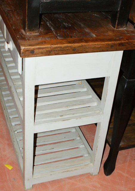 Custom Built Slatted Island/Potting Table