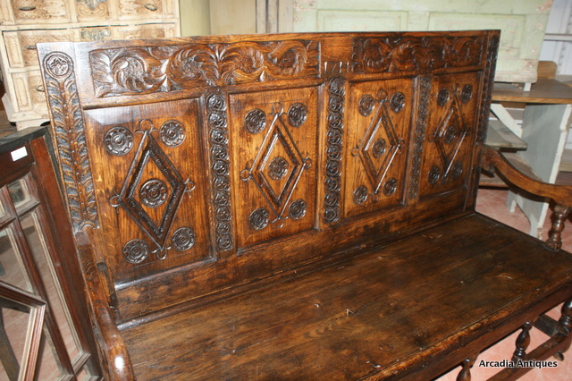 Carved Welsh Settle
