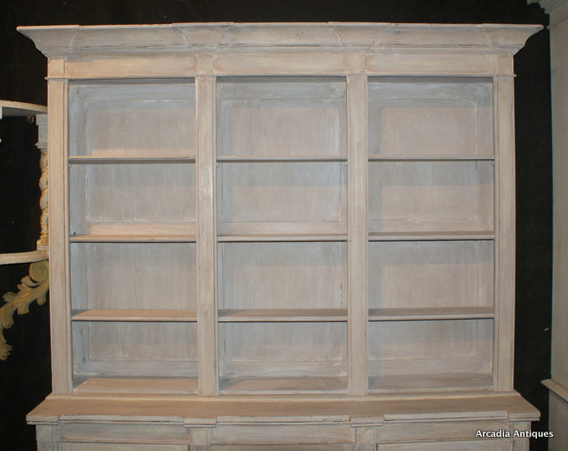 Painted Breakfront Bookcase.