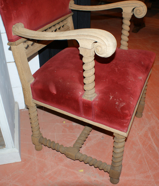Bleached Oak Arm Chair