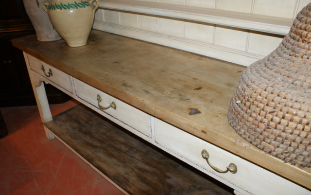 3 Drawer Pot Board Dresser With Sycamore Top
