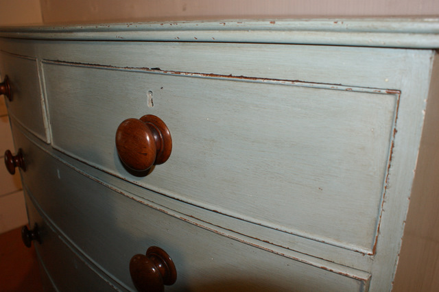 Blue Painted Chest of Drawers