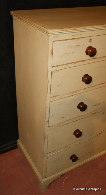 Tall Painted Chest of Drawers