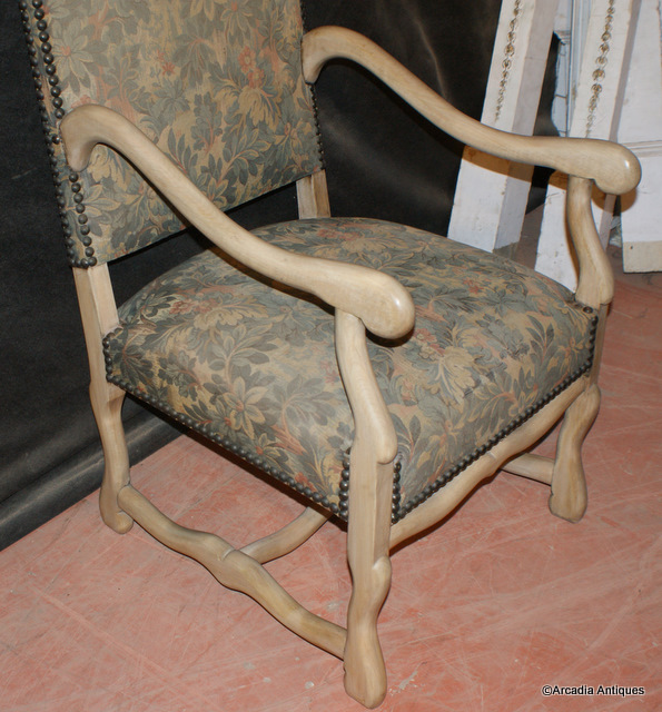 Bleached French Arm Chairs