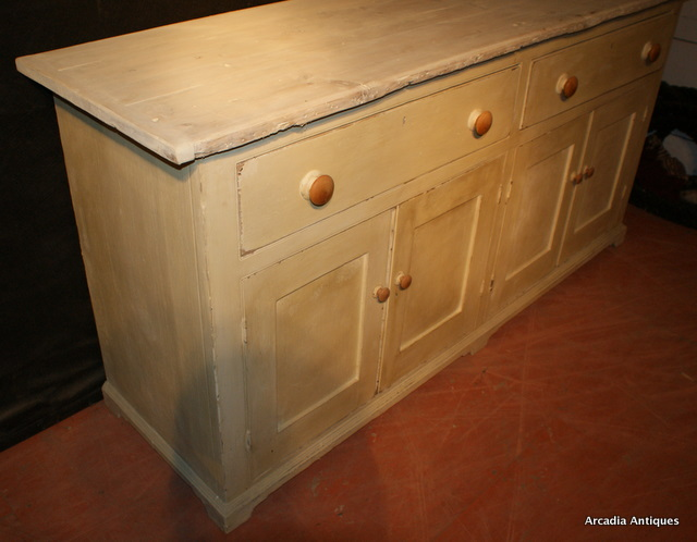 English Painted Pine Dresser Base