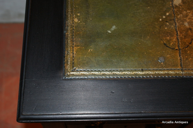 Victorian Ebonized Knee Hole Desk