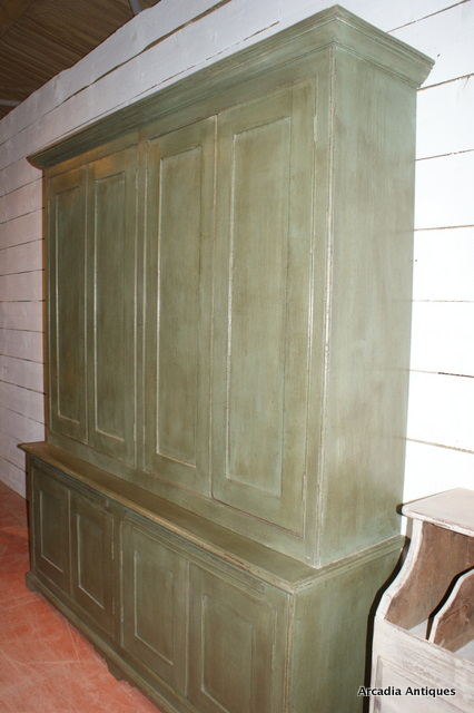 Painted Butlers Cupboard with slides.