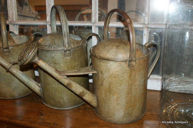 3 Zinc Watering cans