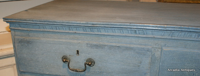Painted Blue Chest of Drawers