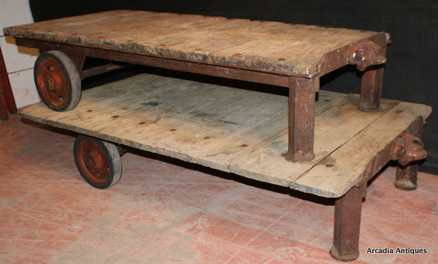 Bleached Oak Trolleys