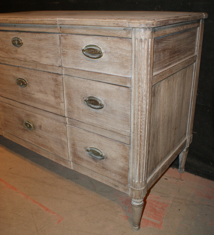 Bleached Breakfront Commode