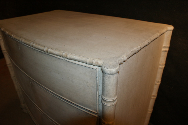 English Faux Bamboo Commode