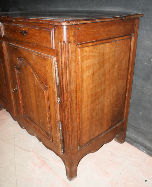 Antique Walnut and Oak Buffet