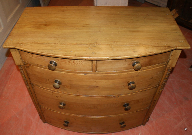 English Bowfront Chest of Drawers