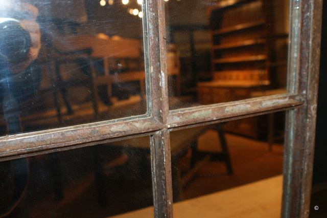 Pair of Narrow Iron Mirrors